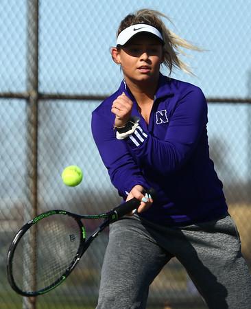 4-19-18<br /> Northwestern girls tennis<br /> 3 singles Morgan Mercer<br /> Kelly Lafferty Gerber   Kokomo Tribune