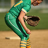 4-26-18<br /> Eastern vs Rossville softball<br /> Brooklynn Smith loses her grip and drops the ball.<br /> Kelly Lafferty Gerber | Kokomo Tribune
