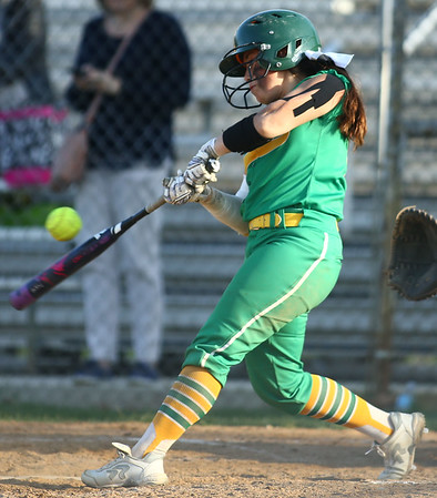 4-26-18<br /> Eastern vs Rossville softball<br /> Hope Smith bats.<br /> Kelly Lafferty Gerber | Kokomo Tribune