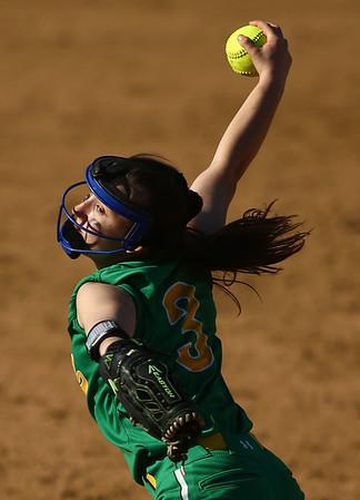 4-26-18<br /> Eastern vs Rossville softball<br /> Deanna Ayres pitches.<br /> Kelly Lafferty Gerber | Kokomo Tribune