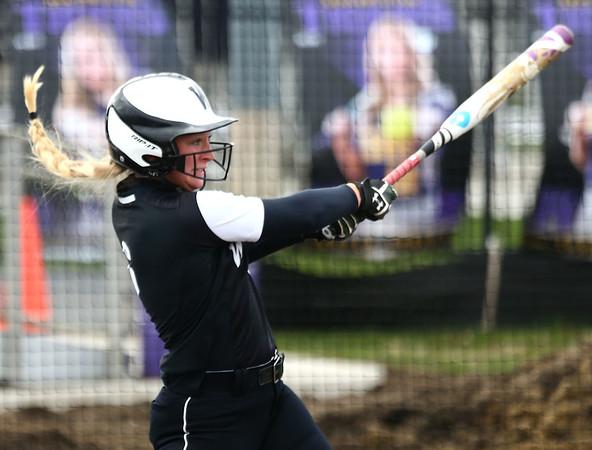 4-17-18<br /> Northwestern vs Western softball<br /> Western's Tori Turner bats.<br /> Kelly Lafferty Gerber | Kokomo Tribune