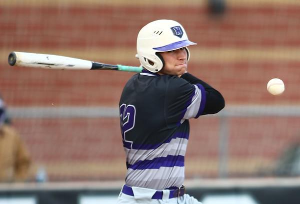 4-18-18<br /> Northwestern vs Western baseball<br /> NW's TJ Macaluso bats.<br /> Kelly Lafferty Gerber | Kokomo Tribune
