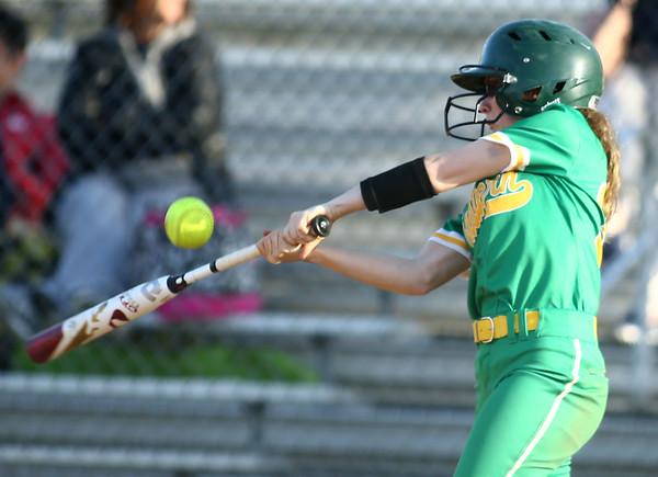 4-26-18<br /> Eastern vs Rossville softball<br /> Emily Belt bats.<br /> Kelly Lafferty Gerber | Kokomo Tribune
