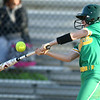 4-26-18<br /> Eastern vs Rossville softball<br /> Emily Belt bats.<br /> Kelly Lafferty Gerber | Kokomo Tribune