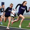 4-24-18<br /> Northwestern Relays<br /> NW's Makala Pfefferkorn in the girls 4x100 relay.<br /> Kelly Lafferty Gerber | Kokomo Tribune