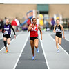 4-28-18<br /> Kokomo Relays<br /> Kokomo's Tionna Brown leads the pack in the 100 m dash.<br /> Kelly Lafferty Gerber | Kokomo Tribune