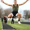 4-21-18<br /> Eastern Relays<br /> Aren Turner in the boys long jump.<br /> Kelly Lafferty Gerber | Kokomo Tribune
