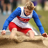 4-28-18<br /> Kokomo Relays<br /> Kokomo's Noah Wainscott in the boys long jump.<br /> Kelly Lafferty Gerber | Kokomo Tribune