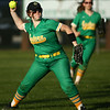 4-26-18<br /> Eastern vs Rossville softball<br /> Maci Weeks throws the ball infield.<br /> Kelly Lafferty Gerber | Kokomo Tribune
