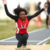 4-28-18<br /> Kokomo Relays<br /> Kokomo's La'Bria Williams in the girls long jump.<br /> Kelly Lafferty Gerber | Kokomo Tribune