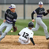 4-18-18<br /> Northwestern vs Western baseball<br /> NW's Logan Bowser almost makes the catch, but Western's Cooper O'Neal safely slides to second.<br /> Kelly Lafferty Gerber | Kokomo Tribune