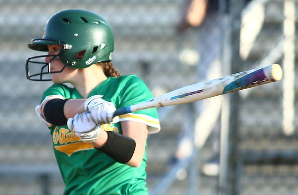 4-26-18<br /> Eastern vs Rossville softball<br /> Rylie Davison bats.<br /> Kelly Lafferty Gerber | Kokomo Tribune