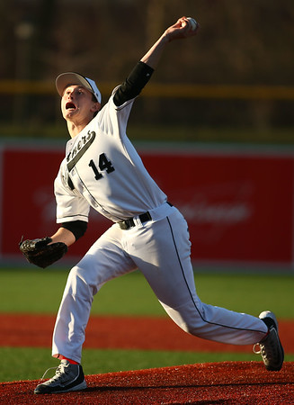 4-20-18<br /> Kokomo vs Western baseball<br /> Western's Pat Mills pitches.<br /> Kelly Lafferty Gerber   Kokomo Tribune