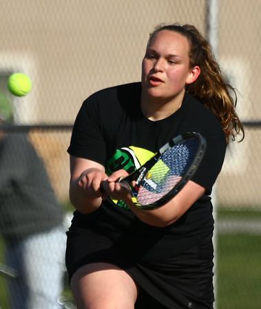 4-25-18<br /> Eastern girls tennis<br /> 2 singles Callie Sargent<br /> Kelly Lafferty Gerber   Kokomo Tribune