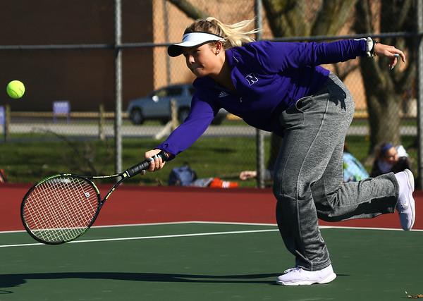 4-19-18<br /> Northwestern girls tennis<br /> 3 singles Morgan Mercer<br /> Kelly Lafferty Gerber | Kokomo Tribune