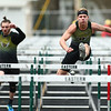 4-21-18<br /> Eastern Relays<br /> Dakota Spencer in the boys 110m hurdles.<br /> Kelly Lafferty Gerber | Kokomo Tribune