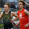 4-24-18<br /> Northwestern Relays<br /> Eastern's Jack Johnson in the boys 4x800 relay.<br /> Kelly Lafferty Gerber | Kokomo Tribune