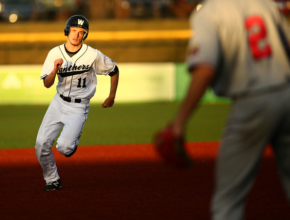 4-20-18<br /> Kokomo vs Western baseball<br /> Western's Gavin White runs to third base.<br /> Kelly Lafferty Gerber   Kokomo Tribune
