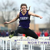 4-24-18<br /> Northwestern Relays<br /> NW's Madison Prifogle in the shuttle hurdle relay.<br /> Kelly Lafferty Gerber | Kokomo Tribune