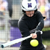 4-17-18<br /> Northwestern vs Western softball<br /> NW's Megan Osmun bats.<br /> Kelly Lafferty Gerber | Kokomo Tribune