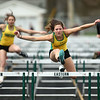 4-21-18<br /> Eastern Relays<br /> Lacey Biesecker in the girls 100m hurdles.<br /> Kelly Lafferty Gerber | Kokomo Tribune
