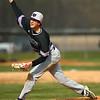 4-18-18<br /> Northwestern vs Western baseball<br /> NW's Ben Harris pitches.<br /> Kelly Lafferty Gerber | Kokomo Tribune