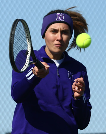 4-19-18<br /> Northwestern girls tennis<br /> Madison Layden 1 singles<br /> Kelly Lafferty Gerber   Kokomo Tribune