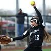 4-17-18<br /> Northwestern vs Western softball<br /> Western's Brooke Snyder pitches.<br /> Kelly Lafferty Gerber | Kokomo Tribune
