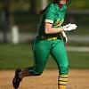 4-26-18<br /> Eastern vs Rossville softball<br /> Arhea Pugh runs to third.<br /> Kelly Lafferty Gerber | Kokomo Tribune