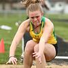 4-21-18<br /> Eastern Relays<br /> Cassie Williams in the girls long jump.<br /> Kelly Lafferty Gerber | Kokomo Tribune
