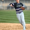 4-18-18<br /> Northwestern vs Western baseball<br /> NW's Logan Bowser tosses the ball to first for an out.<br /> Kelly Lafferty Gerber | Kokomo Tribune