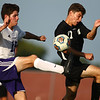 8-28-18<br /> Western vs Northwestern boys soccer<br /> NW's Caleb Treadway and Western's Collin Rassel try to get control of the ball.<br /> Kelly Lafferty Gerber | Kokomo Tribune