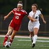8-29-18<br /> Taylor vs Peru girls soccer<br /> Taylor's Fallon Shane and Peru's Abby Rogers.<br /> Kelly Lafferty Gerber   Kokomo Tribune