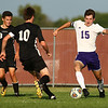 8-28-18<br /> Western vs Northwestern boys soccer<br /> NW's Caleb Treadway heads to the goal.<br /> Kelly Lafferty Gerber | Kokomo Tribune