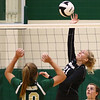 8-22-18<br /> Eastern vs Western volleyball<br /> Western's Hilary Merica goes for the kill.<br /> Kelly Lafferty Gerber | Kokomo Tribune