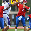8-31-18<br /> Kokomo vs Marion football<br /> Levi Hrabos makes a pass.<br /> Kelly Lafferty Gerber   Kokomo Tribune