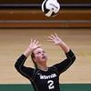 8-22-18<br /> Eastern vs Western volleyball<br /> Western's Karlyne Shepherd sets the ball.<br /> Kelly Lafferty Gerber | Kokomo Tribune