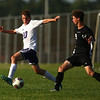 8-28-18<br /> Western vs Northwestern boys soccer<br /> NW's Nathan Bennet and Western's Hayden Turner.<br /> Kelly Lafferty Gerber | Kokomo Tribune
