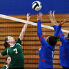 8-21-18<br /> Kokomo vs Eastern volleyball<br /> Eastern's Morgan White tips the ball over the net.<br /> Kelly Lafferty Gerber | Kokomo Tribune