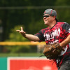 David Carver pitches for the Kokomo Fire Department. Kokomo Police Department defeated the Kokomo Fire Department 8-7 in the Military Foundation charity softball game on Saturday, August 18, 2018.<br /> Kelly Lafferty Gerber | Kokomo Tribune