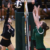 8-22-18<br /> Eastern vs Western volleyball<br /> Western's Taylor Berry hits one over the net.<br /> Kelly Lafferty Gerber | Kokomo Tribune