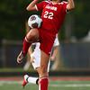 8-29-18<br /> Taylor vs Peru girls soccer<br /> Taylor's Kirsten Alexander tries to ground the ball.<br /> Kelly Lafferty Gerber   Kokomo Tribune