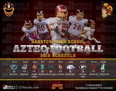 2018 Aztec Varsity Football Schedule