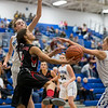 Kailee Franklin puts up a shot under the basket