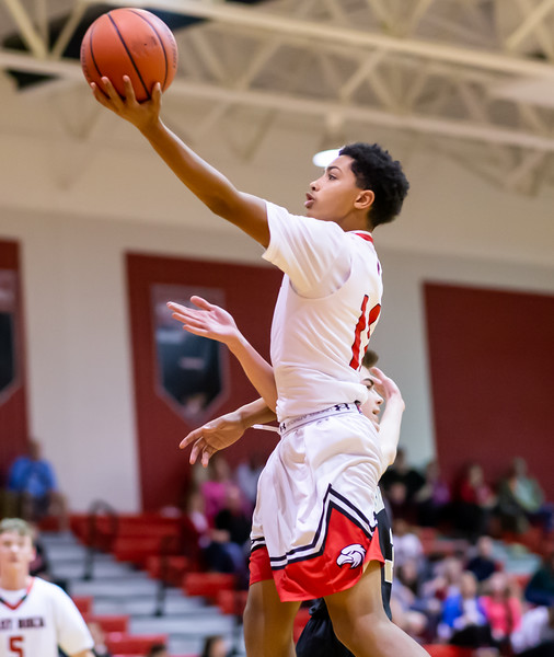 Tyce McNair goes in for a layup