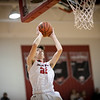 Dalton Jefferson takes a jump shot up close to the basket