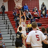 Dalton Jefferson takes a shot as the clock runs out in the first half