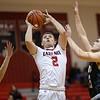 Griffin Morris goes up for a shot under the basket