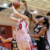 Nicole Jefferson goes up for a shot under the basket