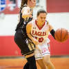 Erin Clayton drives the ball in